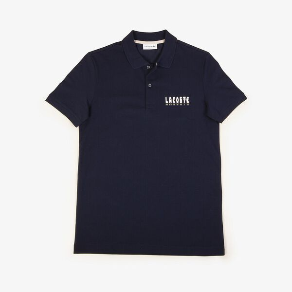 Men's 3D Slim Fit Polo, NAVY BLUE, hi-res