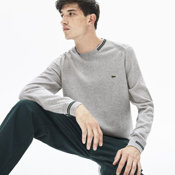 Men's Classic Tipped Cotton Crew Neck Knit
