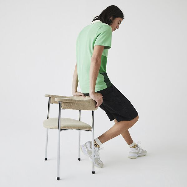Men's Fresh Colourblock Polo Shirt, GREEN/CHERVIL-LIAMONE-ZAB, hi-res