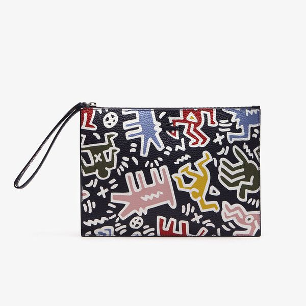 WOMEN'S PRINTED KEITH HARING ZIP POUCH