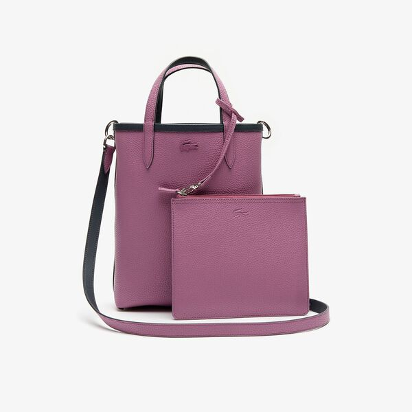 Women's Anna Vertical Shopping Bag, EBONY ORCHID, hi-res