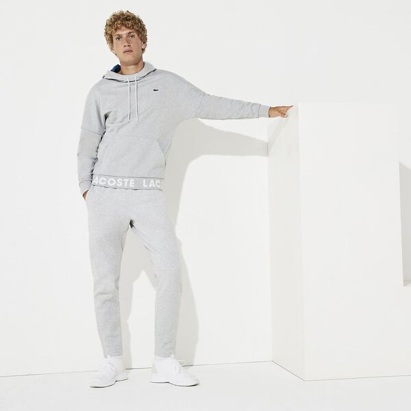 Men's Lifestyle Non Brushed Hoodie, SILVER CHINE/ILLUMINATION, hi-res