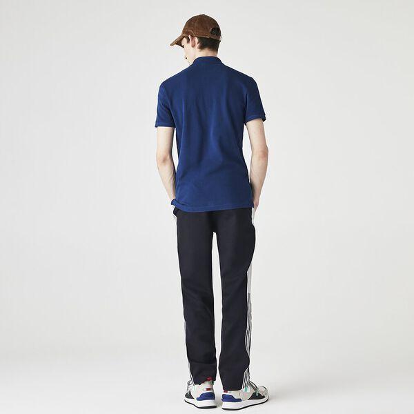 Men's Slim fit Lacoste Polo Shirt in petit piqué, GLOBE, hi-res