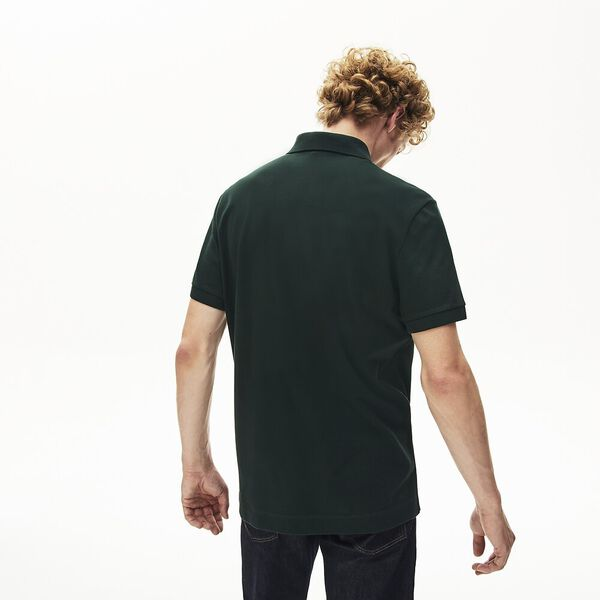 MEN'S PARIS REGULAR FIT STRETCH POLO, SINOPLE, hi-res
