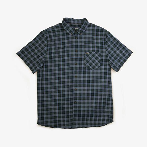 Men's Classic Short Sleeve Check Shirt, WHEELWRIGHT/KING, hi-res