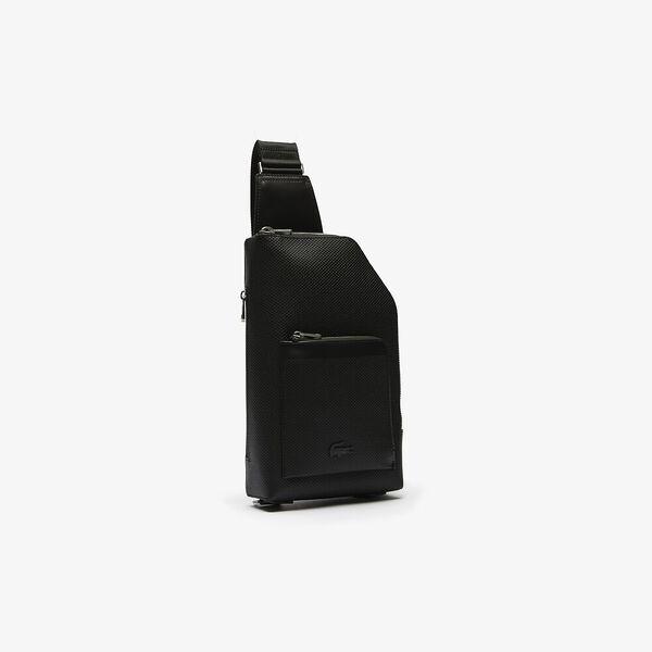 Men's Chantaco Piqué Leather Zip Crossbody Bag