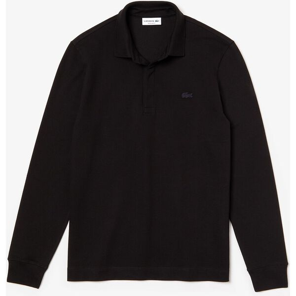 Men's Long-sleeve Paris Polo, BLACK, hi-res