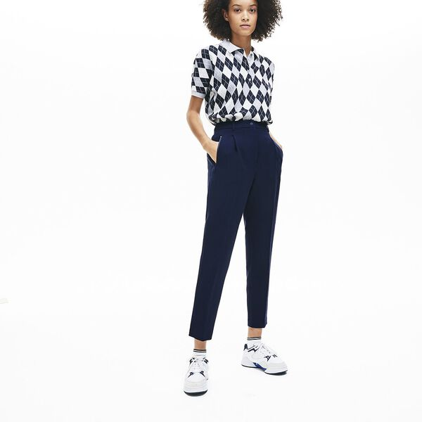 Women's Sporty Neoprene Pant, NAVY BLUE, hi-res