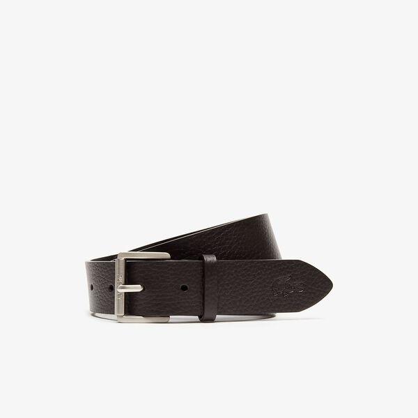 Men's Casual 35Mm Leather Belt, DARK BROWN, hi-res