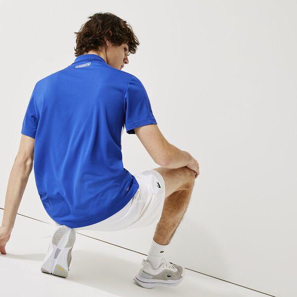 Men's SPORT Breathable Piqué Tennis Polo, LAZULI/WHITE-WHITE, hi-res