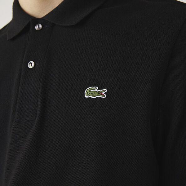 Men's Long Sleeve L.12.12 Classic Polo, BLACK, hi-res