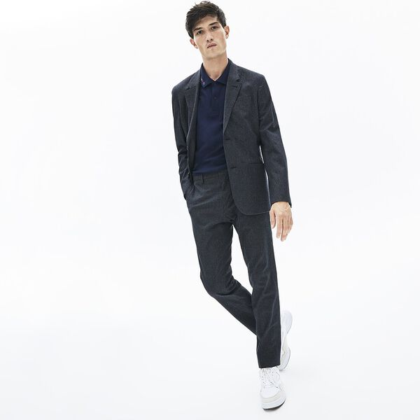 Men's 90S Logomania Slim Fit Polo, NAVY BLUE, hi-res