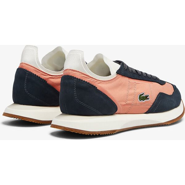 Women's Match Break Textile and Suede Sneakers, PINK/OFF WHITE, hi-res