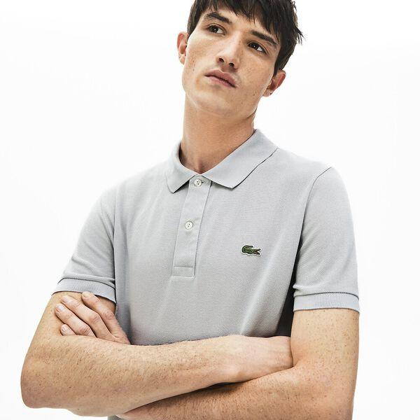 Men's Slim Fit Polo, NIMBUS, hi-res