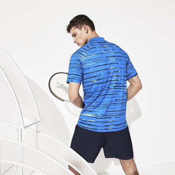 Men's Novak Djokovic Technical Jersey Polo, NATTIER BLUE/WHITE, hi-res