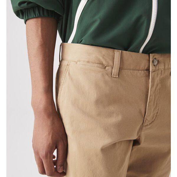Men's Slim Fit Gabardine Bermuda Shorts, VIENNESE, hi-res