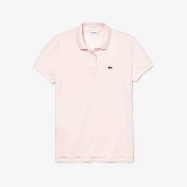 Women's 2 Button Relaxed Fit Polo, FLAMINGO, hi-res