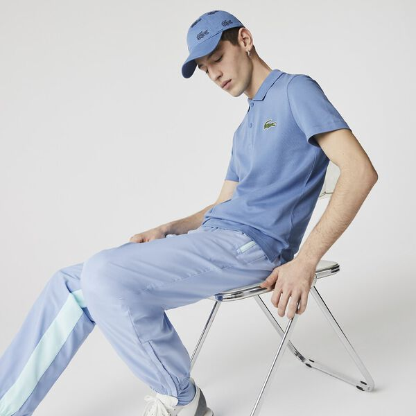 Men's Regular Fit Badge Cotton Piqué Polo, TURQUIN BLUE, hi-res
