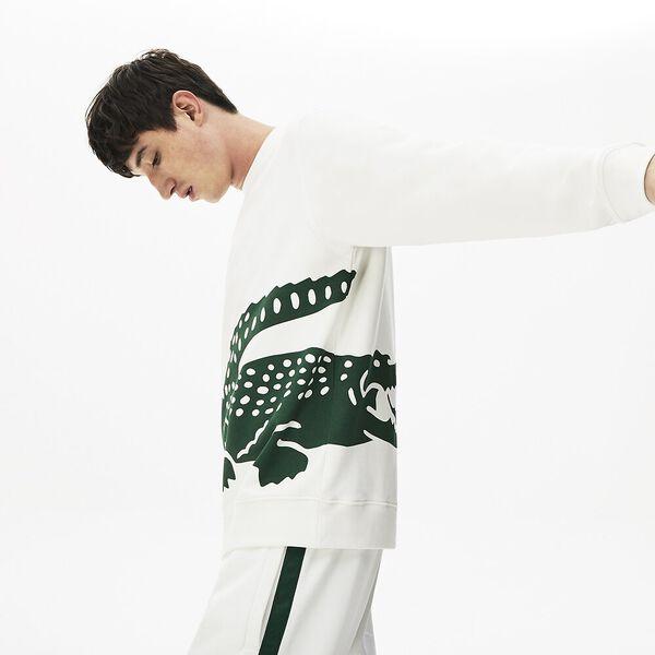 Men's Oversized Crocodile Crew Neck Sweatshirt
