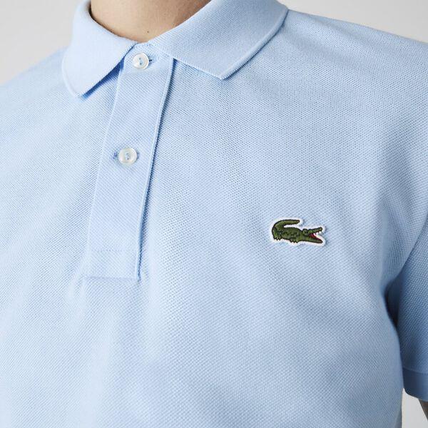 Men's Slim fit Lacoste Polo Shirt in petit piqué, OVERVIEW, hi-res