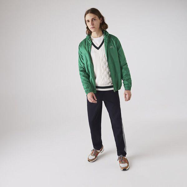 Men's Lacoste SPORT Hooded Water-Resistant Jacket