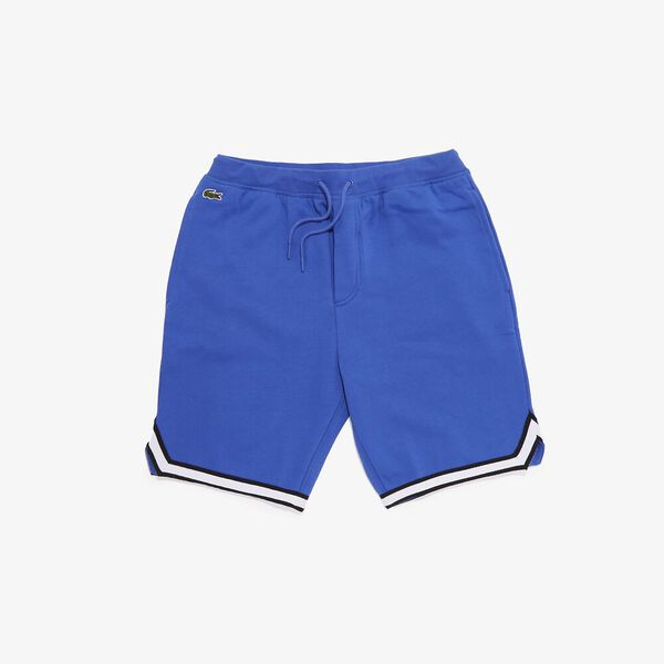 Men's SPORT Striped Hem Fleece Shorts