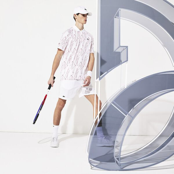 Men's Novak Djokovic Australian  Open Stretch Taffeta Short, BLANC/BLANC, hi-res