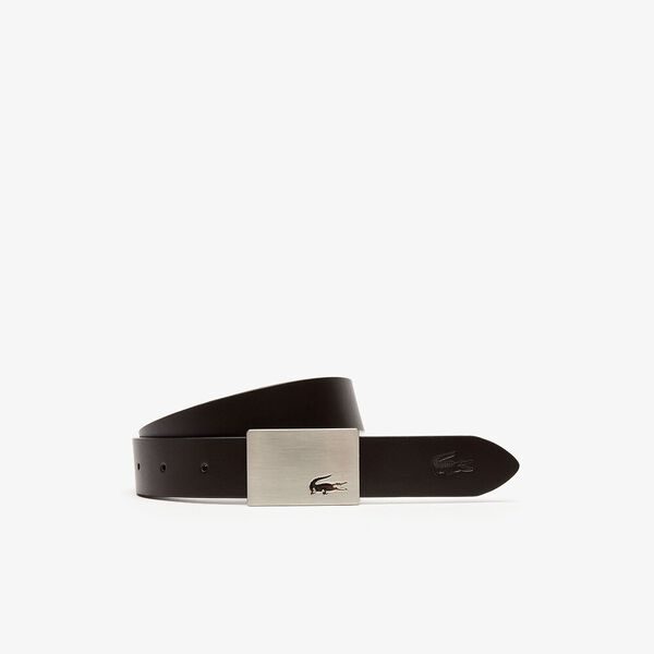 Men's Elegance 30Mm Duel Buckle Belt, black dark rown, hi-res