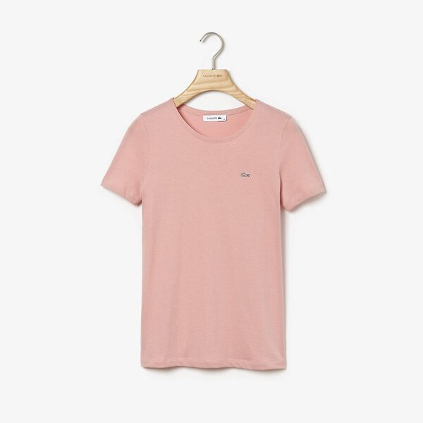 WOMEN'S CREW NECK SOLID TEE, CEMBRA, hi-res