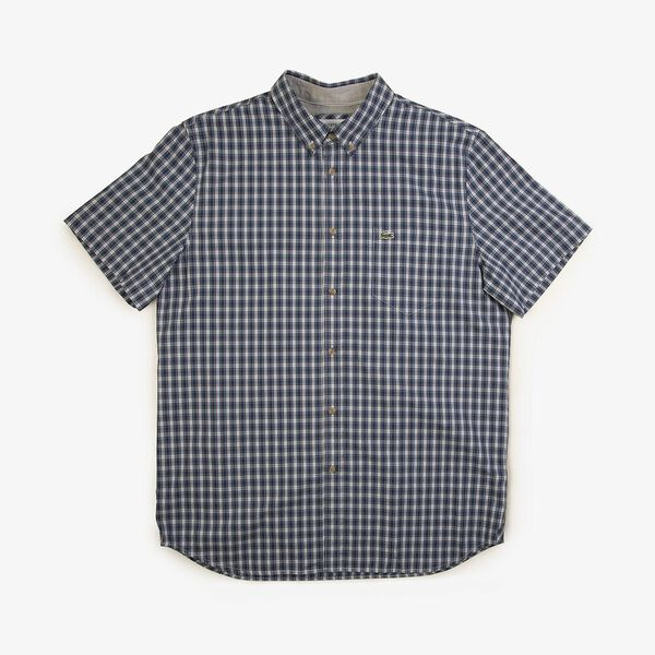 Men's Classic Short Sleeve Check Shirt, CAPTAIN/KING, hi-res