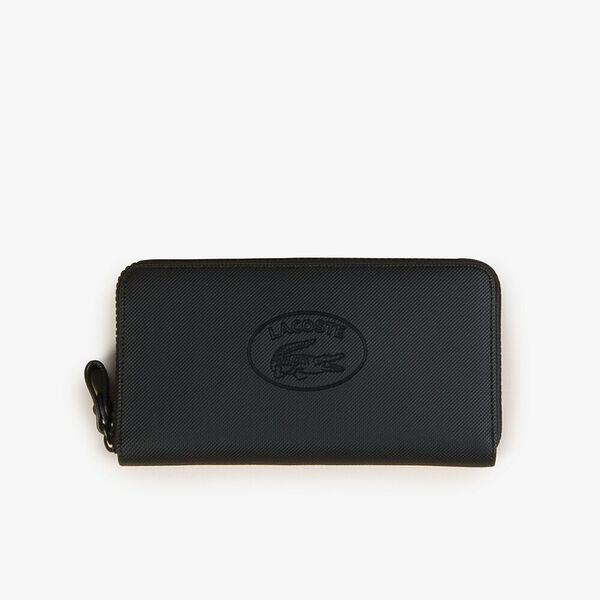 Women's Classic Large Zip Wallet, BLACK ECLIPSE, hi-res