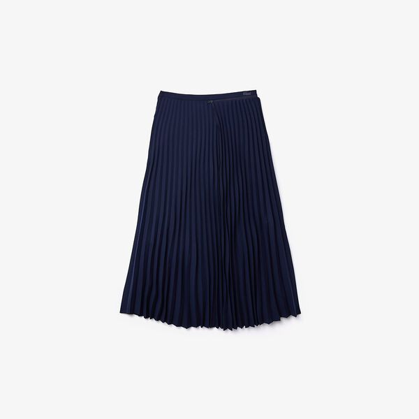 Women's Fashion Show Iconics Pleated Skirt, NAVY BLUE, hi-res