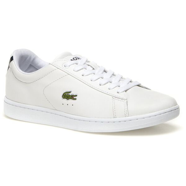 Women's Carnaby Evo Mesh-lined Leather Trainers, WHITE, hi-res