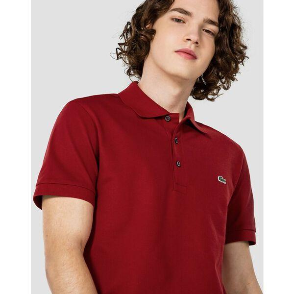 Men's Cotton Piqué Slim Fit Polo, ALIZARIN, hi-res