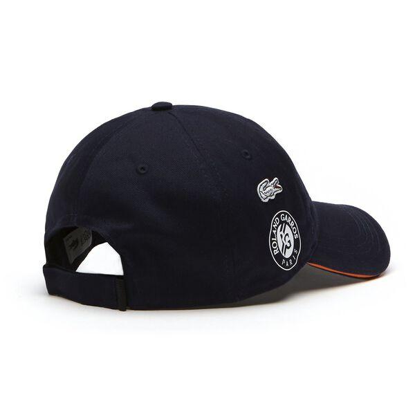 MEN'S ROLAND GARROS LOGO CAP, NAVY BLUE/APRICOT/WHITE, hi-res