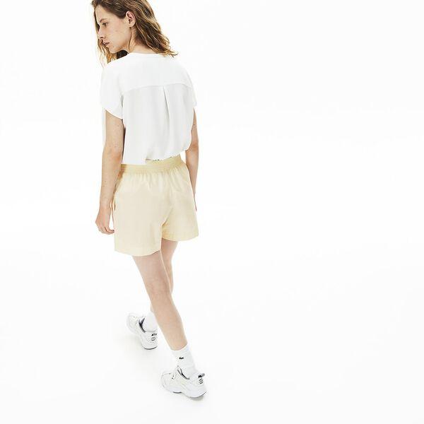 Women's Light Cotton Poplin Shorts, CLUSI, hi-res