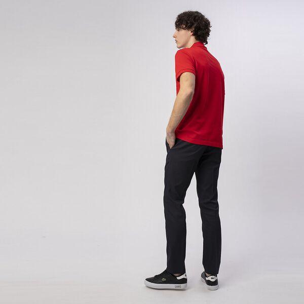 Men's Cotton Piqué Slim Fit Polo, RED, hi-res