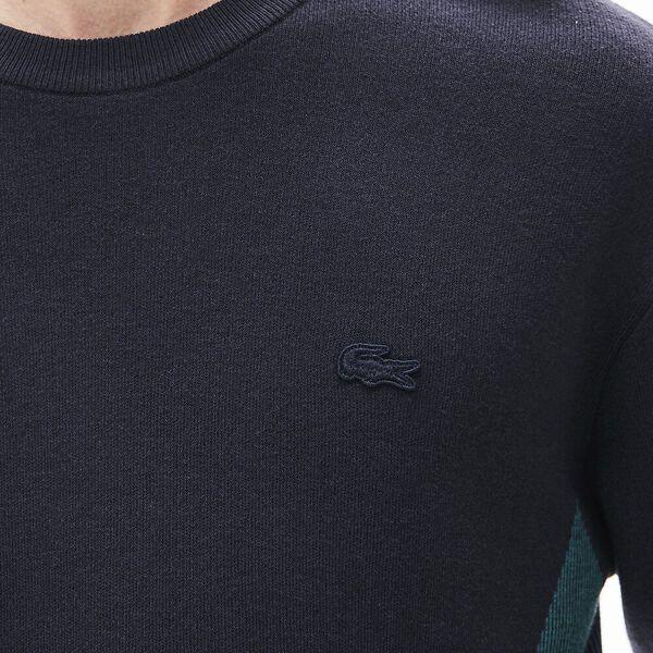 Men's Contrast Effects Knit Sweater, MARINE SOMBRE/LEGION, hi-res