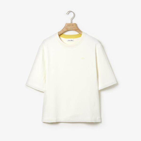Women's Lacoste Motion Shirt, FLOUR, hi-res
