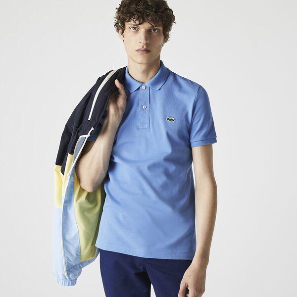 Men's Slim Fit Polo, TURQUIN BLUE, hi-res
