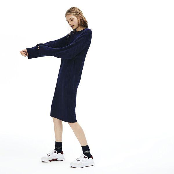 Women's Classic Cable Dress, NAVY BLUE, hi-res