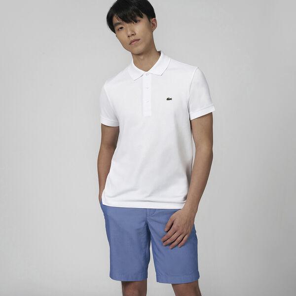 Men's Cotton Piqué Slim Fit Polo, WHITE, hi-res