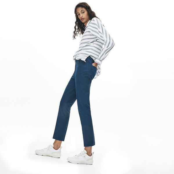 Women's Casual Elegance Cotton Cropped Pant