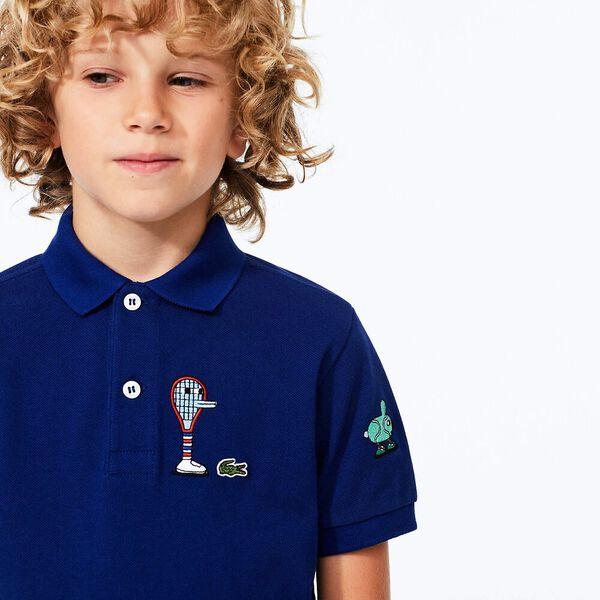 Boys' Lacoste x Jeremyville Design Cotton Polo Shirt