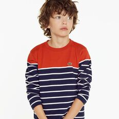 BOYS HALF STRIPE SWEAT