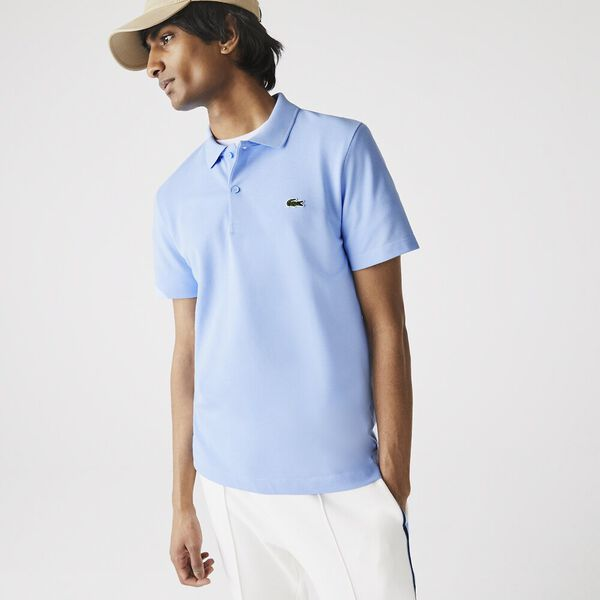 Men's Embroidered Logo Cotton Piqué Polo, NATTIER BLUE, hi-res