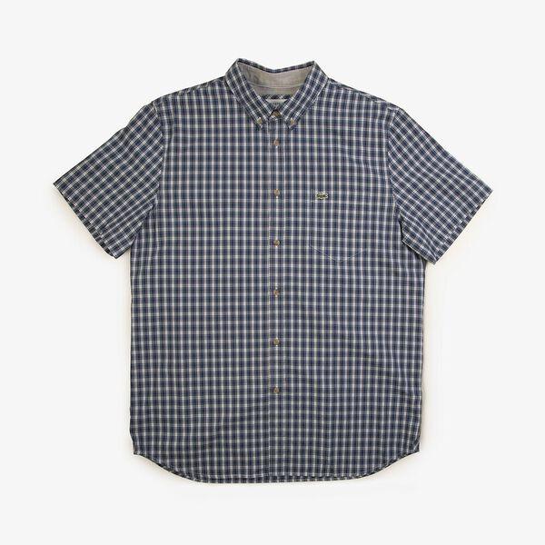 Men's Classic Short Sleeve Check Shirt, CAPTAIN/KING, hi-res
