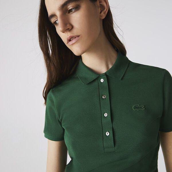 Women's Stretch Cotton Shirt, GREEN, hi-res