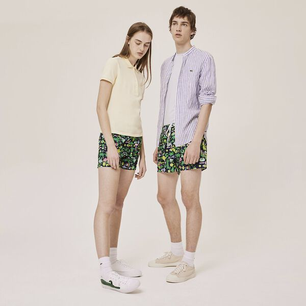 Unisex Lacoste x Jeremyville Light Print Swim Shorts
