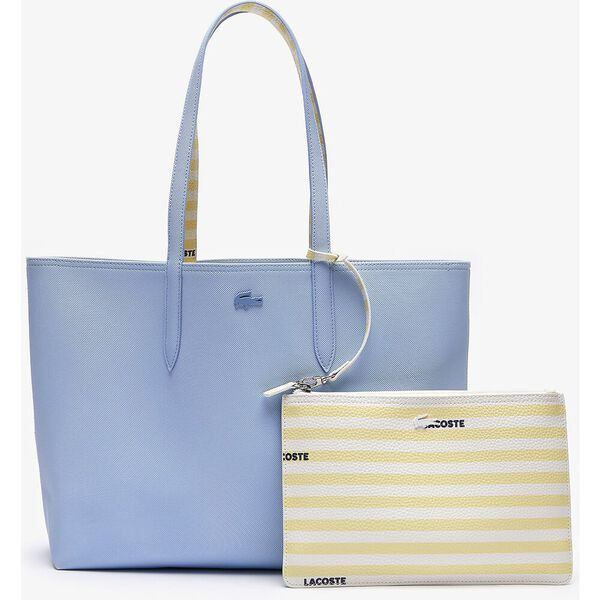 Women's Anna Reversible Solid Or Striped Colorblock Tote Bag